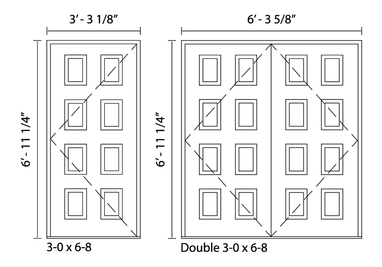 8-Panel Door - Trudeau Windows and Doors