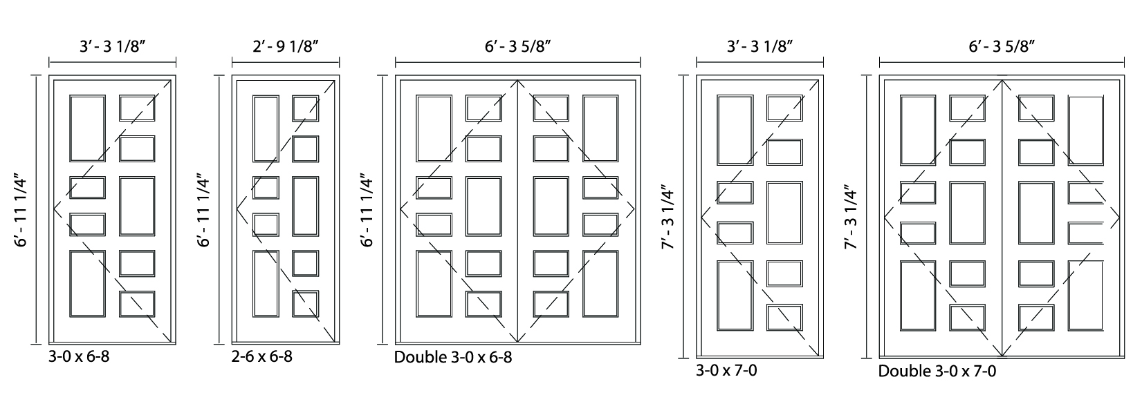 9-Panel Door - Trudeau Windows and Doors