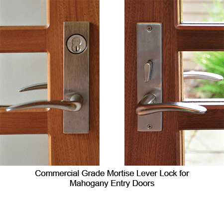 Mahogany Entry Door Hardware - Trudeau Windows and Doors